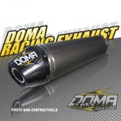 DOMA 402847 DOMA Silencer Single for OE collector Alu w. carbon end cap for Yamaha Raptor 700 (15-)
