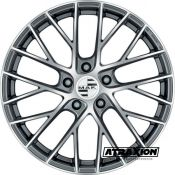 8.5x21 5x130 ET51 CTR71.6 Alu Mak Monaco Gun Met-Mirror Face (DED:Porsche ) F8521MFQM51KY3