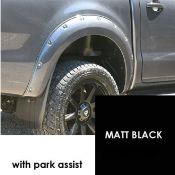 Trux RANG519DBLWARIVMB Matt Black 6 Inch Xtreme fender flares 30mm for Ford Ranger DC with park