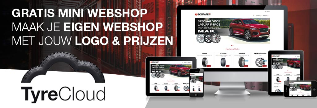 Tyre cloud uw eigen webshop gratis!